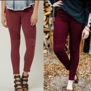 """❣FINAL PRICE❣""""AVA"""" Moto Leggings with Ankle Zip"""